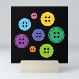 Colorful Rainbow Buttons Mini Art Print