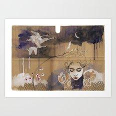 göç (migration) Art Print
