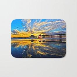 Sunset ~ Huntington Beach Pier CA  11/7/13 Bath Mat