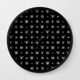 WOODLAND ANIMAL print Wall Clock