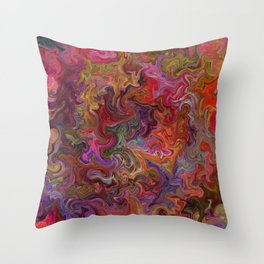 Psychedelic soup Throw Pillow