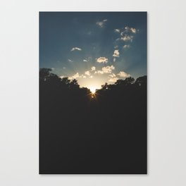A Texas Hill Country Sunset Canvas Print