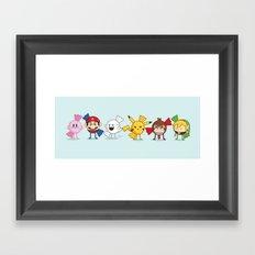 Nintendo Treats Framed Art Print