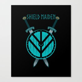 Viking Shield Maiden Badass Woman Warrior Canvas Print