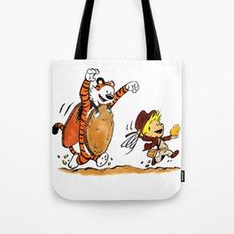 Calvin and Hobbes Indiana Tote Bag