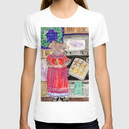 Miss Mouse Baking Holiday Cookies T-shirt