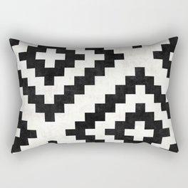 Urban Tribal Pattern No.18 - Aztec - Black and White Concrete Rectangular Pillow