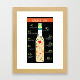 The Benefits of Drinking Beer Framed Art Print
