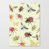 insects Canvas Prints featuring Insects by Stag Prints