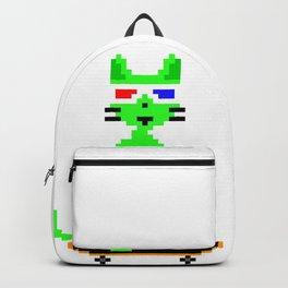 """Psychedelic Skateboarding Pixel Pizza Cat"", by Brock Springstead Backpack"