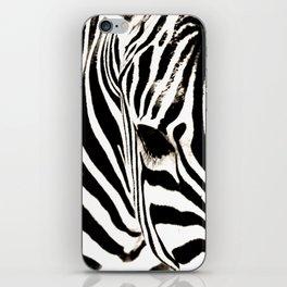 Zebra-Black and White iPhone Skin