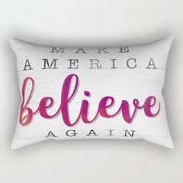 Make America Believe Again Rectangular Pillow