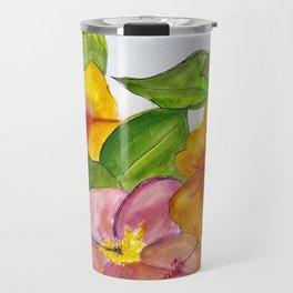 Hibiscus Flowers Travel Mug