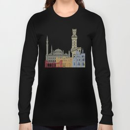 Alexandria skyline poster Long Sleeve T-shirt