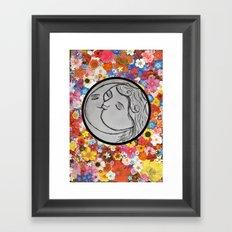 the sun and moon Framed Art Print