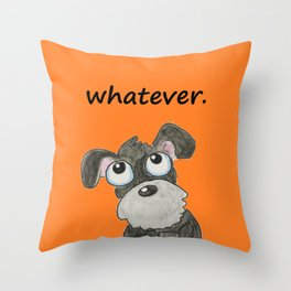 Couldn't care less Throw Pillow