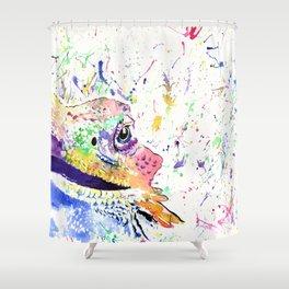 Bearded Dragon in full colour Shower Curtain