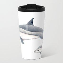 Long-beaked dolphin and baby Travel Mug