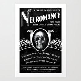 Faux School of Necromancy Recruitment Poster Art Print