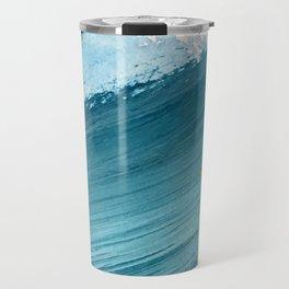 Paradise: a vibrant, minimal, abstract mixed media piece Travel Mug