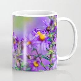 Monarch butterfly on aster purple flowers Coffee Mug