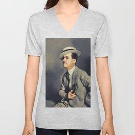 Charley Chase, Vintage Actor Unisex V-Neck