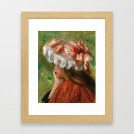 "Auguste Renoir ""Tête de jeune fille (Head of a young girl)"" Framed Art Print"
