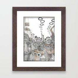 """Brown"" illustration Framed Art Print"