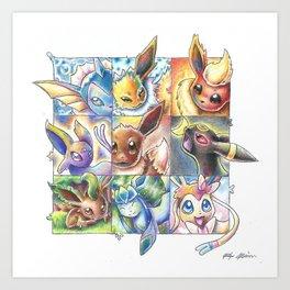 Eeveelutions Art Print