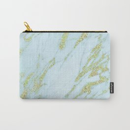 Gold Marble - Shimmery Glittery Yellow Gold Marble Metallic Carry-All Pouch
