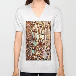 Looking Down, Seeing Stars Unisex V-Neck