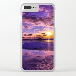 February Sunset Clear iPhone Case