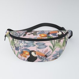 Tucan Garden #pattern #illustration Fanny Pack