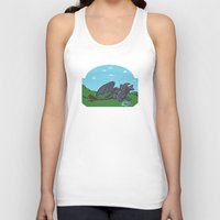 toothless Tank Tops featuring Toothless  by Charleighkat