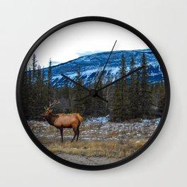 Jasper Local- Aka Mr. Male Elk/Wapiti Wall Clock