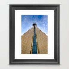 CN Tower up close Framed Art Print