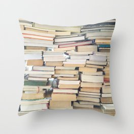 Books, Pages, Stories Throw Pillow