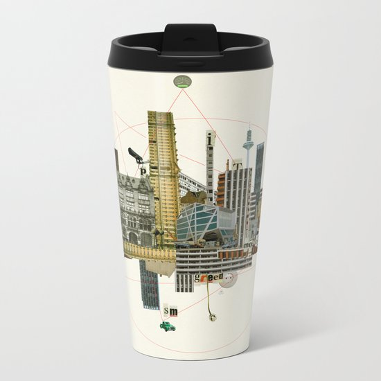 Collage City Mix 8 Metal Travel Mug