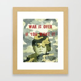 Quote - war is over if you want it Framed Art Print