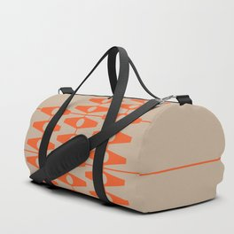 abstract eyes pattern orange tan Duffle Bag