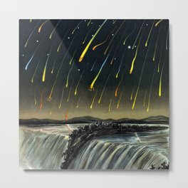 Starfall in North America by Edmund Weiss Metal Print