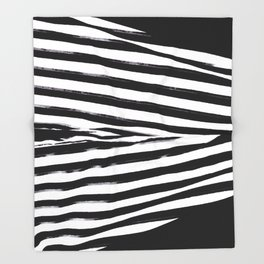 Black & White Stripes Throw Blanket