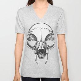 Rare Persian Smilodon Skull. Unisex V-Neck
