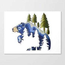 Ursus & Pine Canvas Print