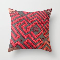 Domino Labyrinth Throw Pillow