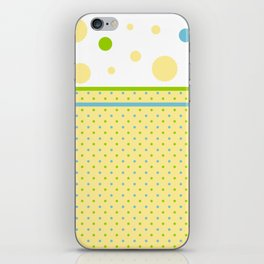 Yellow, With Dots iPhone Skin