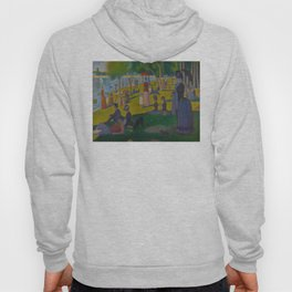 A Sunday Afternoon on the Island of La Grande Jatte Painting by Georges Seurat Pointillism Hoody