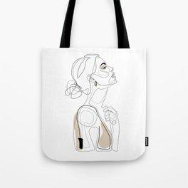 Beige Beauty Tote Bag