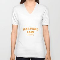 law V-neck T-shirts featuring Law Student by Antaka Overdose