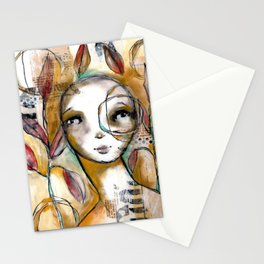 Original Mixed Media Piece by Jenny Manno Stationery Cards
